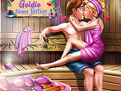 Goldie Sauna Flirting